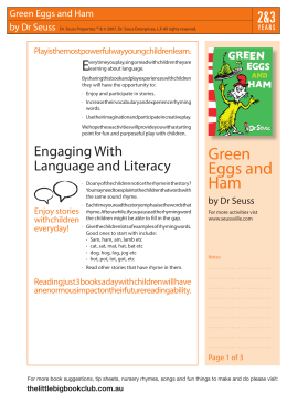 Green Eggs and Ham - The Little Big Book Club