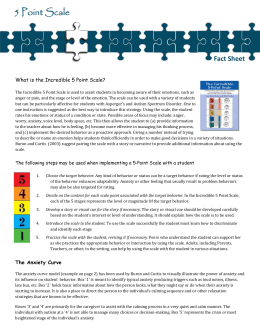 Incredible 5 Point Scale Fact Sheet rev