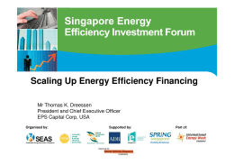 EPS Scaling Up Energy Efficiency Financing