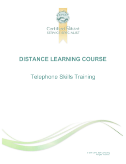 Telephone Skills Training