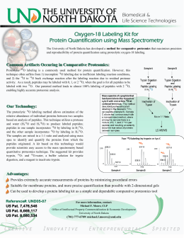 Oxygen-18 Labeling Kit for Protein Quantification using Mass