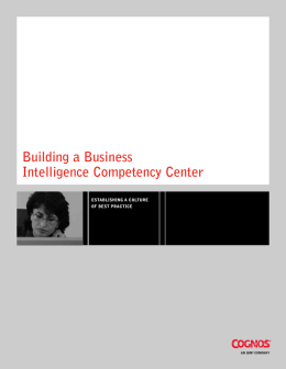 Building a Business Intelligence Competency Center
