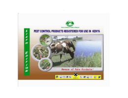 Kenya 6th edition Pest Control Product Manual