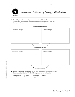 GUIDED READING Patterns of Change: Civilization