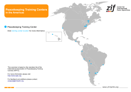 Peacekeeping Training Centers