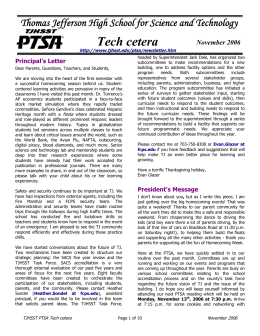Tech cetera - Thomas Jefferson High School for Science and
