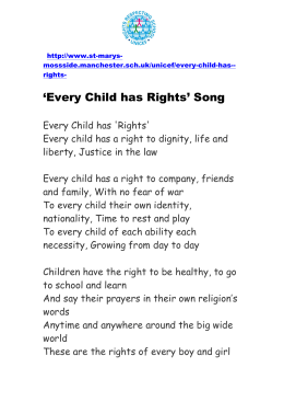 `Every Child has Rights` Song