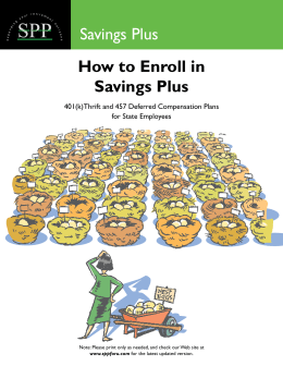How to Enroll in Savings Plus Savings Plus