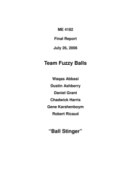 "Team Fuzzy Balls ""Ball Stinger"""