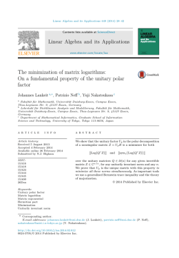 The minimization of matrix logarithms: On a fundamental property of