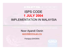 ISPS CODE 1 JULY 2004
