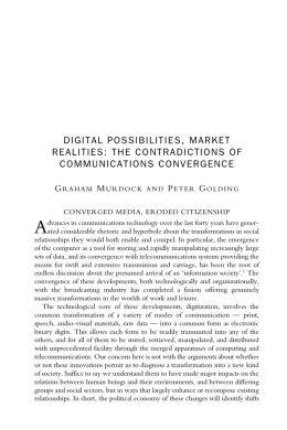 DIGITAL POSSIBILITIES, MARKET REALITIES: THE