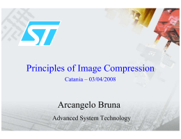 Principles of Image Compression