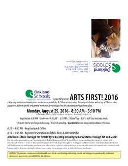 Monday, August 29, 2016 - 8:50 AM - 3:10 PM