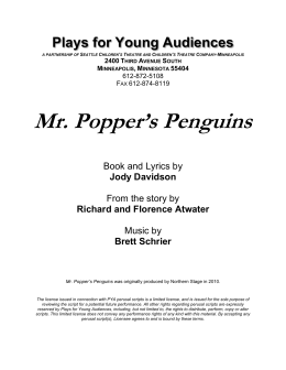 Mr. Popper`s Penguins - Plays for Young Audiences