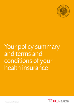 Your policy summary and terms and conditions of