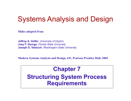 Structuring System Process Requirements