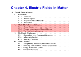 Chapter 4. Electric Fields in Matter