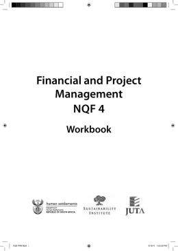 Financial and Project Management NQF 4
