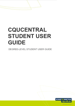 cqucentral student user guide