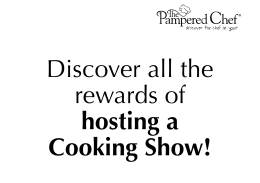 Booking Slides - The Pampered Chef, Ltd.