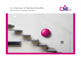 An Overview of Member Benefits