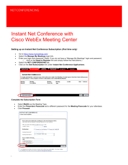 Instant Net Conference User Guide