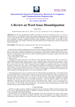 A Review on Word Sense Disambiguation
