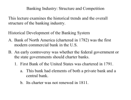 Banking Industry: Structure and Competition - Faculty