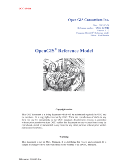 OpenGIS Reference Model