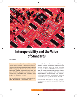 Interoperability and the Value of Standards