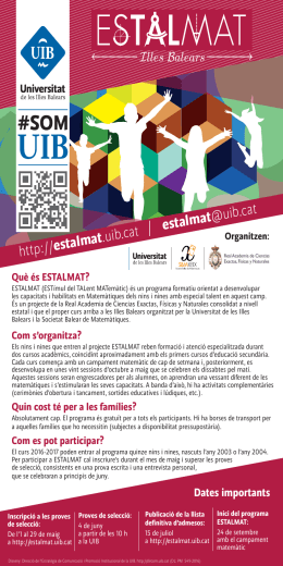 http:// estalmat .uib.cat estalmat @uib.cat