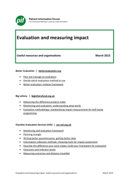 PiF Evaluation useful resource and organisations