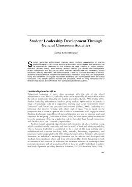 Student Leadership Development Through General