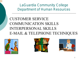 Customer Service Communication Skills