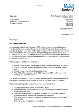 Letter from NHS England