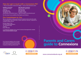 Parents and Carers guide to Connexions