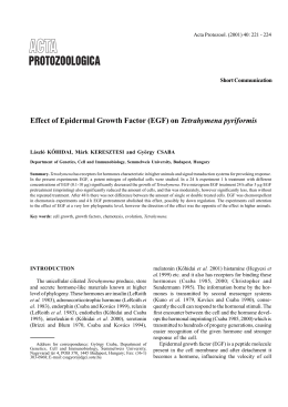 Effect of Epidermal Growth Factor (EGF) on Tetrahymena pyriformis