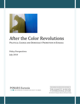 After the Color Revolutions - The George Washington University