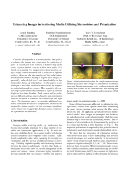 Enhancing Images in Scattering Media Utilizing Stereovision and