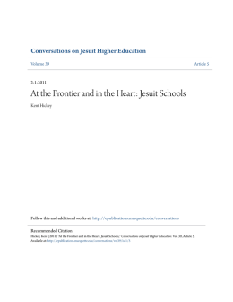At the Frontier and in the Heart: Jesuit Schools - e
