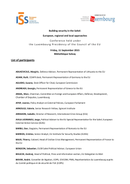 List of participants - European Union Institute for Security Studies