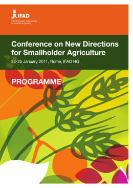 Conference on New Directions for Smallholder Agriculture