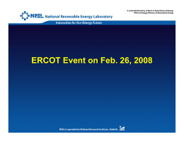 ERCOT Event on February 26, 2008