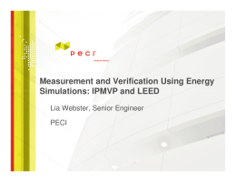 Measurement and Verification Using Energy Simulations: IPMVP and