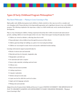 Types Of Early Childhood Program Philosophies