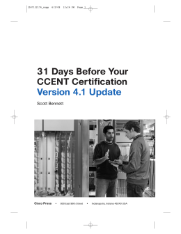 31 Days Before Your CCENT Certification Version 4.1