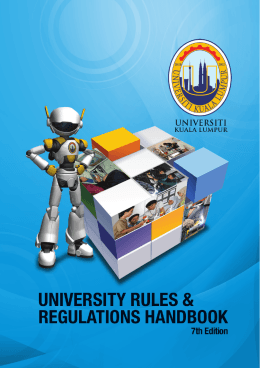 Rule and Regulation - UniKL | Malaysian Institute Of Industrial