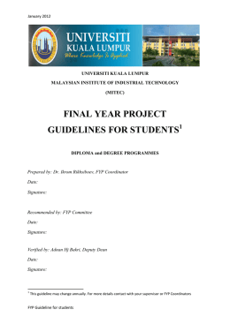 FINAL YEAR PROJECT GUIDELINES FOR STUDENTS