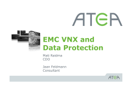 EMC VNX and Data Protection